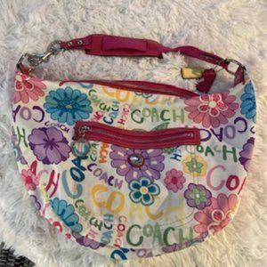 COACH F14883 DAISY GRAFFITI POPPY HOBO Bag